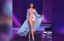 Así fue la aparición de Laura Olascuaga en la preliminar de Miss Unvierso