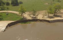 Reforzarán zona erosionada en Salamina