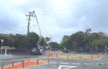 Instalación de redes eléctricas este martes en varios sectores de Barranquilla