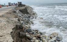 Alerta por avance de la erosión en el Km 20 de la vía Ciénaga - Barranquilla