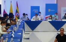 Gobernadora Noguera abre espacio de diálogo con jóvenes manifestantes del Atlántico