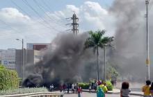 Bloquean Zona Industrial de Mamonal en Cartagena