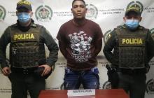 Capturado con más de cinco libras de marihuana en Riohacha