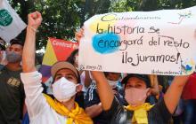 Se vivió un nuevo paro con menor fuerza tras un mes de protestas