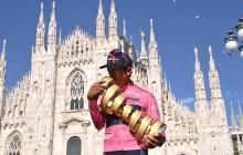 Así sonó el himno de Colombia en el Giro de Italia con Egan Bernal campeón