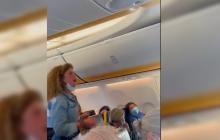 Escándalo en los cielos: se negó a usar tapabocas en avión y escupió a los pasajeros