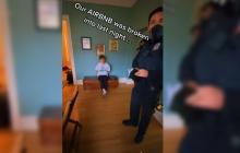 Policías narran la historia en TikTok de cómo un joven entró a su Airbnb