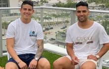 """James y Falcao se reúnen para enviar """"la mejor energía"""" a la Selección"""