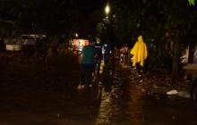 Inundaciones tras larga lluvia en varios sectores de Ciénaga, Magdalena