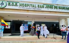 Protestan empleados del hospital de Maicao