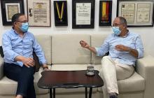Senador Cepeda y exministro Echeverry se reunieron en Barranquilla
