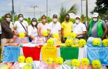 Escuelas deportivas de Pinillos reciben implementos deportivos