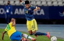 Luis Díaz habla de la polémica jugada del primer gol de Brasil ante Colombia