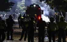 El terror de vecinos en medio de disturbios