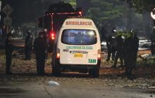 Bomba molotov estalló en manos de un manifestante en la calle 17
