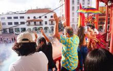 Primera marcha del orgullo gay en Cartagena, masiva y en calma