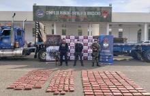 Cocaína del 'Clan del Golfo' incautada en Santa Marta iba para Holanda