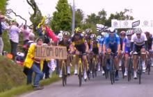 El Tour retira la denuncia contra la espectadora que provocó la caída