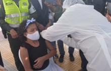 En Piojó fue vacunado el primer menor de edad sin comorbilidad del Atlántico
