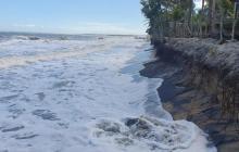 Palomino, en La Guajira, se está quedando sin playa