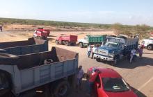 Volqueteros de La Guajira se van a protesta