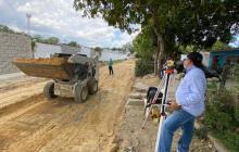 Galapa comienza obra de pavimentación