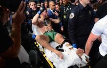 """""""Esto no ha terminado"""", dice McGregor tras salir fracturado ante Poirier"""