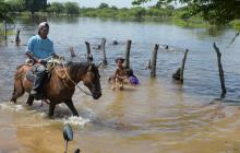 Río Magdalena provoca inundaciones en Campo de la Cruz
