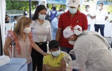 Aplican la vacuna 400 mil en los municipios del Atlántico
