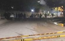Otra vez se registraron actos vandálicos afuera de la antigua escuela de Policía