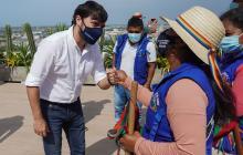 El alcalde Jaime Pumarejo se reunió con líderes de la minga indígena