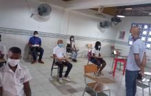 Regresaron las clases presenciales en Barú, Cartagena