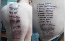 Copa América: Hincha se tatuó el nombre de los 28 jugadores de Argentina