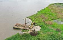 Buscan que el dique de control proteja la vía Salamina-El Piñón de inundaciones