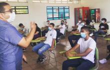 En montería, 5.627 estudiantes comenzaron clases presenciales
