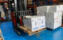 Colombia recibió 308.880 dosis del laboratorio Pfizer