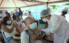 Santa Lucía comenzó su primera jornada masiva de vacunación contra la covid-19