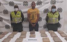 Capturan en Riohacha a hombre que transportaba más de 10 kilos de marihuana