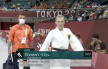 El peculiar y enérgico aliento de un entrenador alemán a su pupila judoca