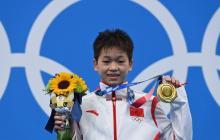 Atleta china de 14 años ganó oro en los Juegos Olímpicos de Tokio