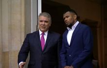 """Usted cambia la historia del atletismo en Colombia"": Duque a Anthony Zambrano"