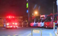 Presuntos delincuentes intimidaron con bomba molotov gasolinera en Bogotá