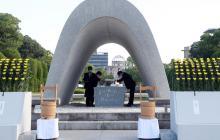 Hiroshima conmemora 76 años de la bomba y reclama al COI minuto de silencio