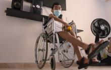 Niño venezolano con discapacidad pide atención en salud