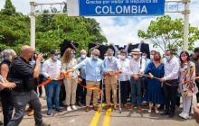 Duque y Lasso inauguran corredor vial en la frontera de Colombia con Ecuador