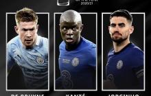 Kevin de Bruyne, Jorginho y Kanté, nominado al mejor jugador de la UEFA