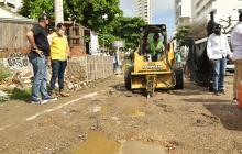 Arrancan obras del puente Benjamín Herrera en Cartagena
