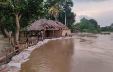 Cierran uno de los boquetes que abrió el río Sinú en Lorica