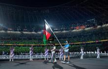 Bandera de Afganistán desfila en los Paralímpicos en homenaje a su ausencia