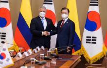 Duque se reunió con su homólogo de Corea del Sur en torno a la reactivación